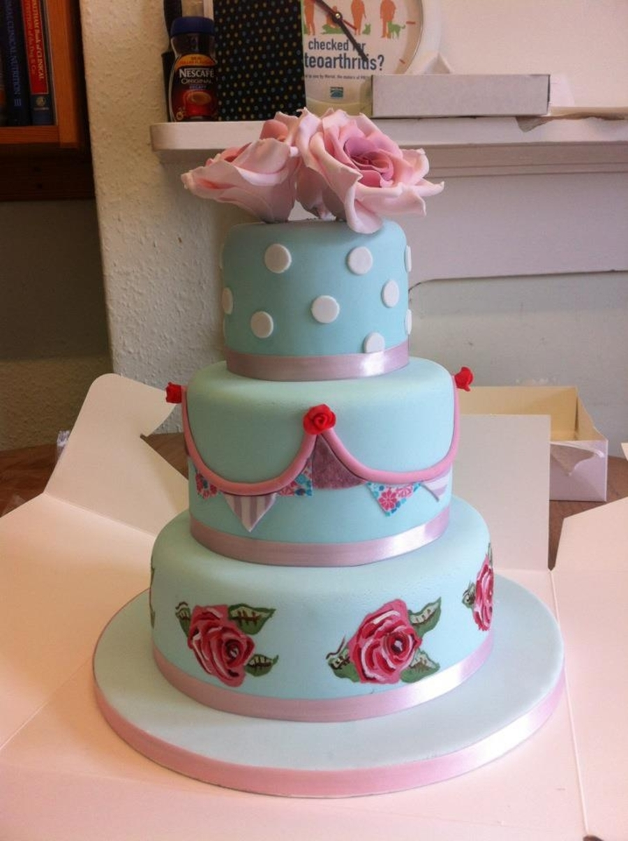 Cath Kidston Inspired Birthday Cake on Cake Central
