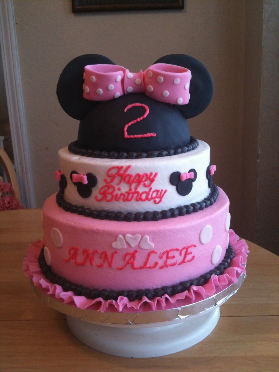 Phenomenal Minnie Mouse Cake Cakecentral Com Funny Birthday Cards Online Barepcheapnameinfo