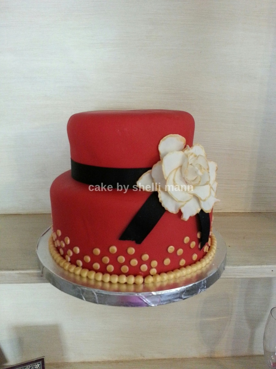 Black Red And White Wedding Cake Ideas