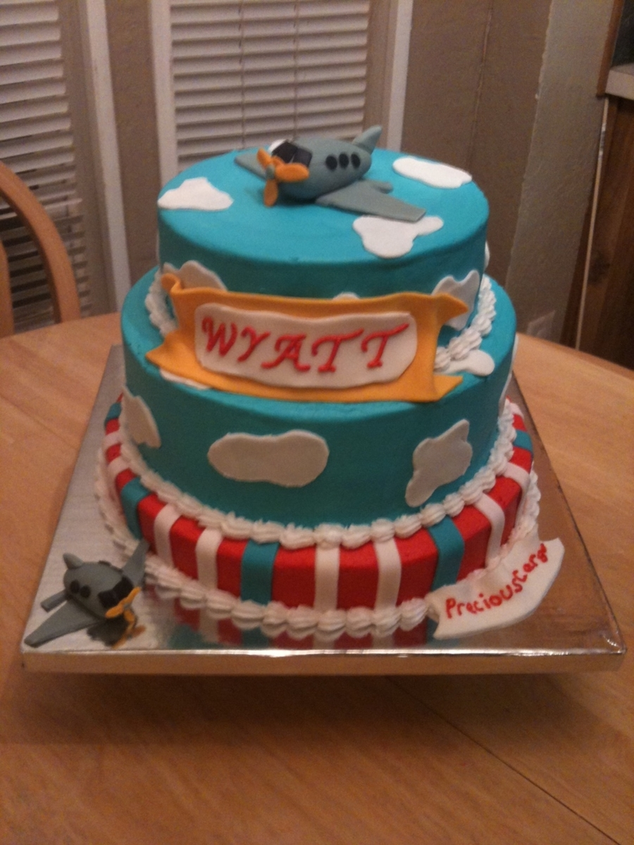 Airplane Baby Shower Cake on Cake Central