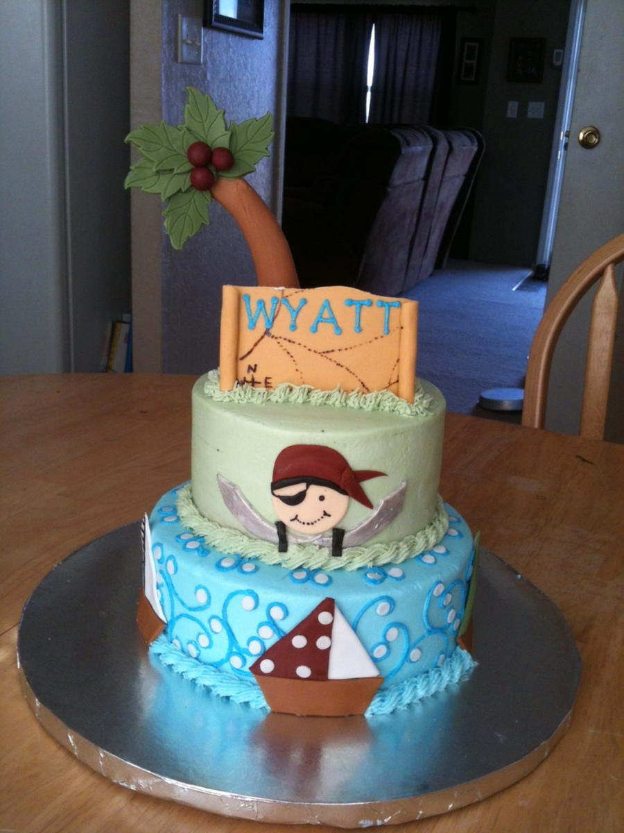 Pirate Baby Shower Cake on Cake Central