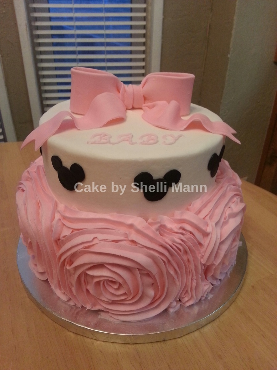 Minnie mouse baby shower cake - Minnie mouse baby shower decorations ...