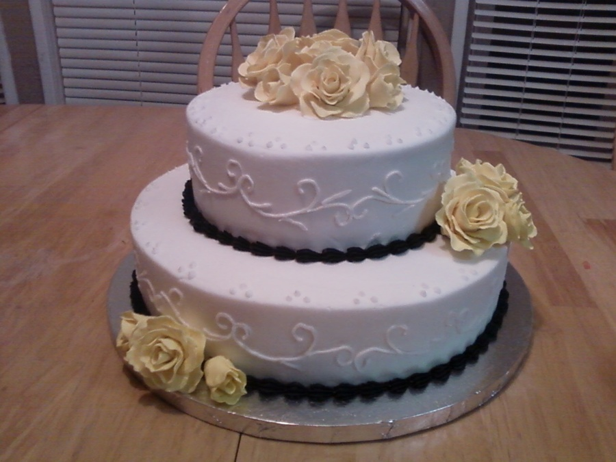 Yellow Rose Birthday Cake on Cake Central