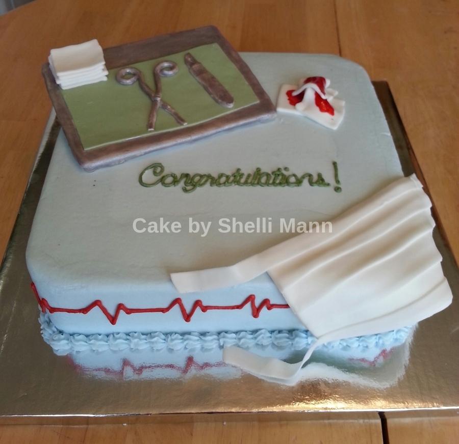 Surgical Tech Graduation Cake Cakecentral Com
