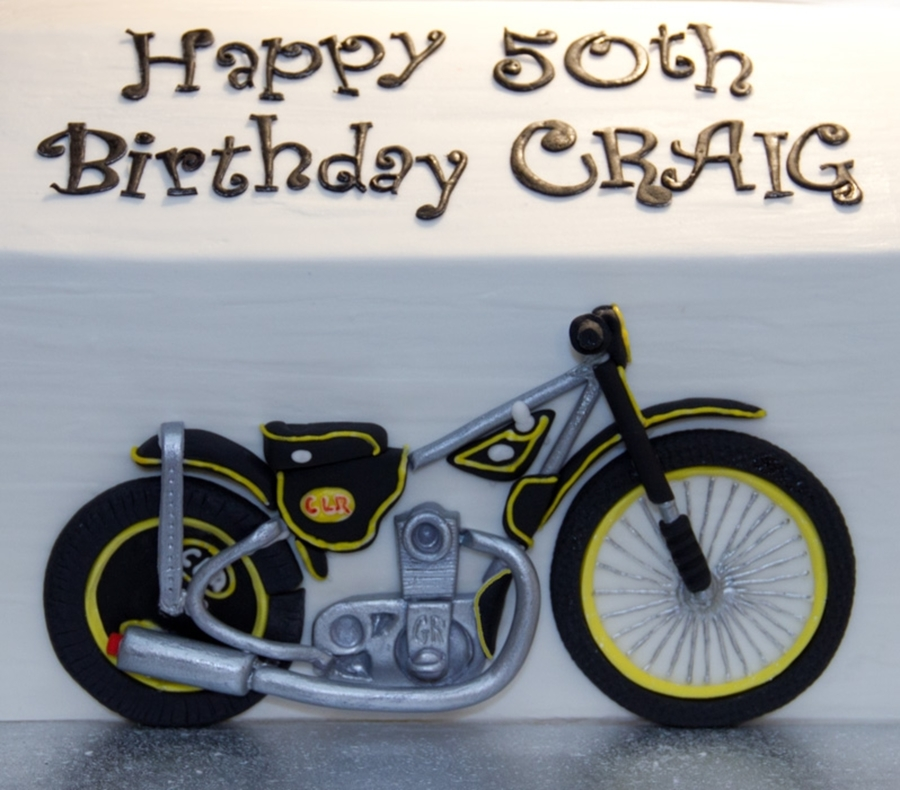 Speedway Motorcycle on Cake Central