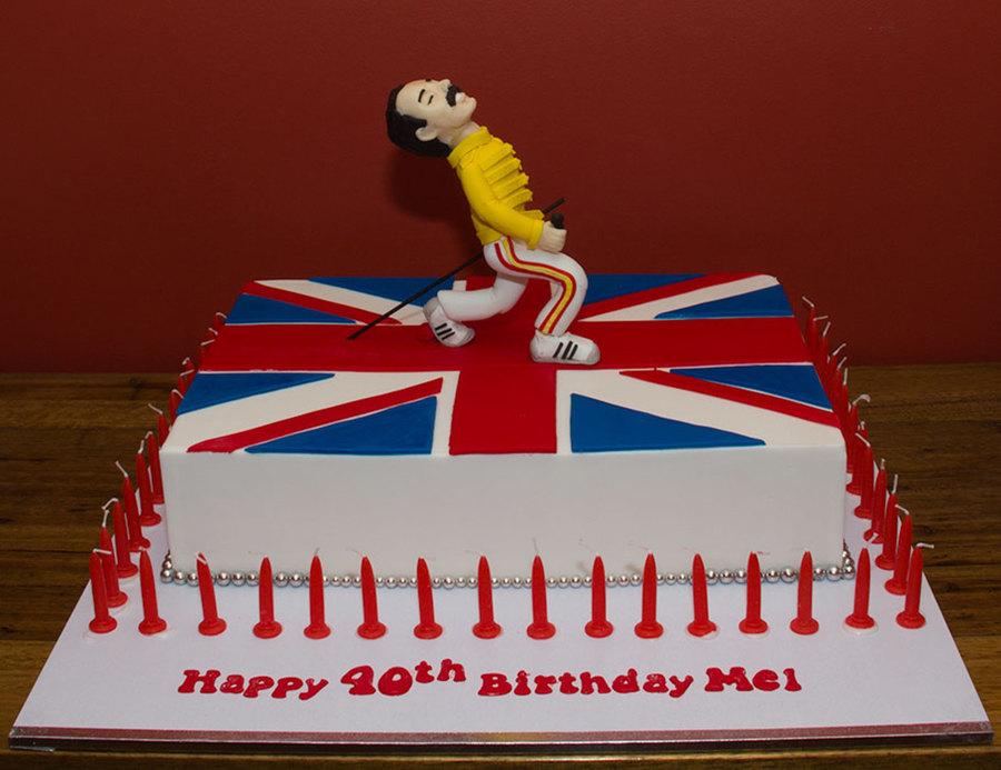 Freddie Mercury Cake Decorations