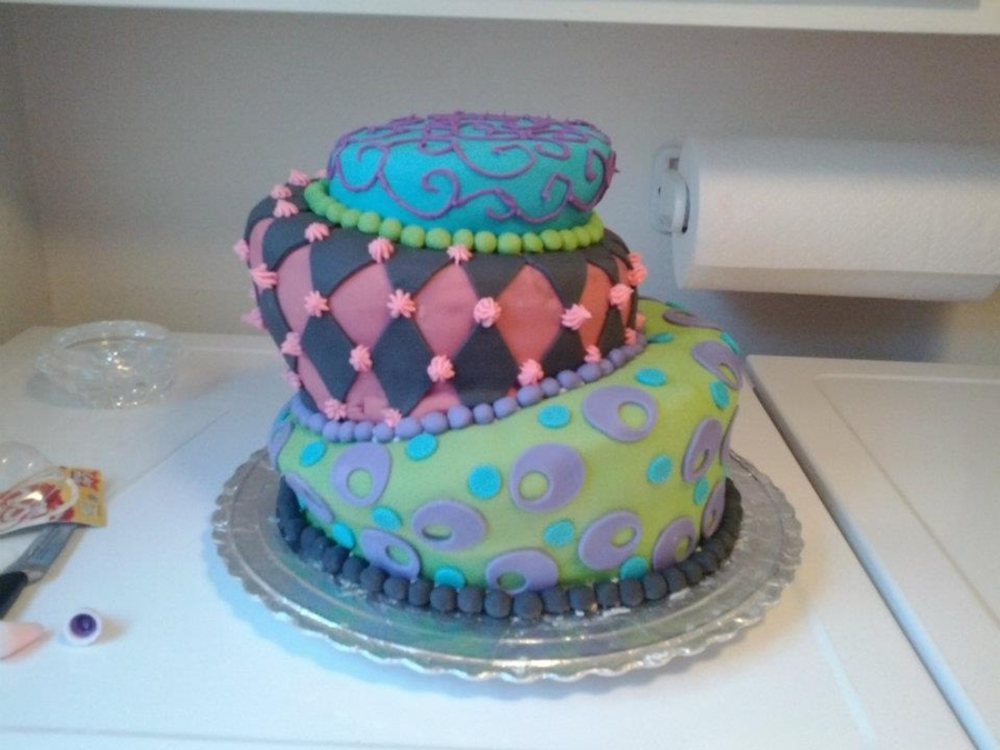 Topsy Turvy Cake on Cake Central