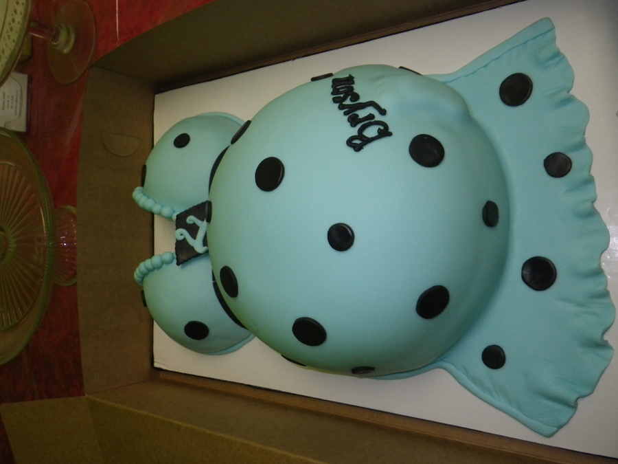 Fondant Covered Cake With Fondant Accents  on Cake Central