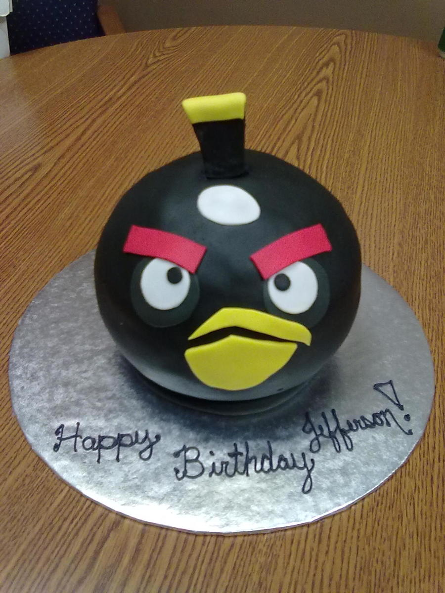 Black Angry Bird 3D on Cake Central