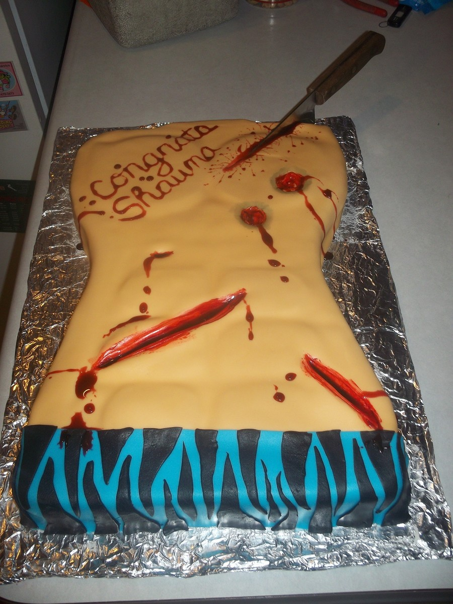 Graduation Cake - Forensics Student on Cake Central