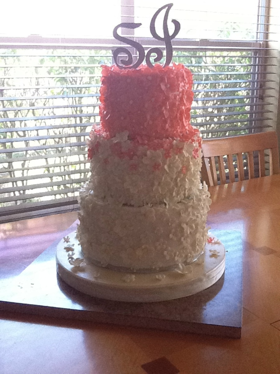 Flowers Wedding Cake. on Cake Central