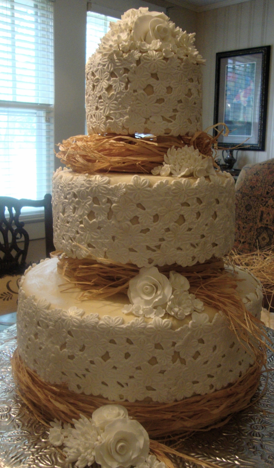 Raffia And Lace on Cake Central