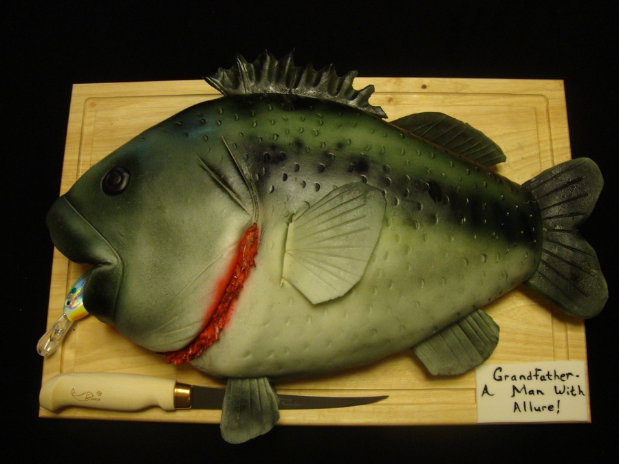 Large Mouth Bass on Cake Central