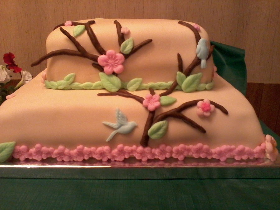 Branches And Birds on Cake Central