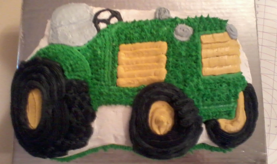 Tractor Pan Cake on Cake Central