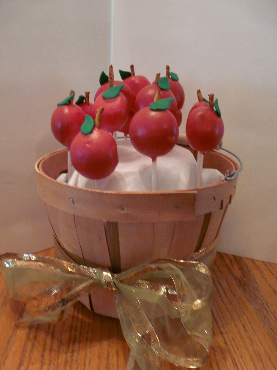 Apple Cake Pops on Cake Central