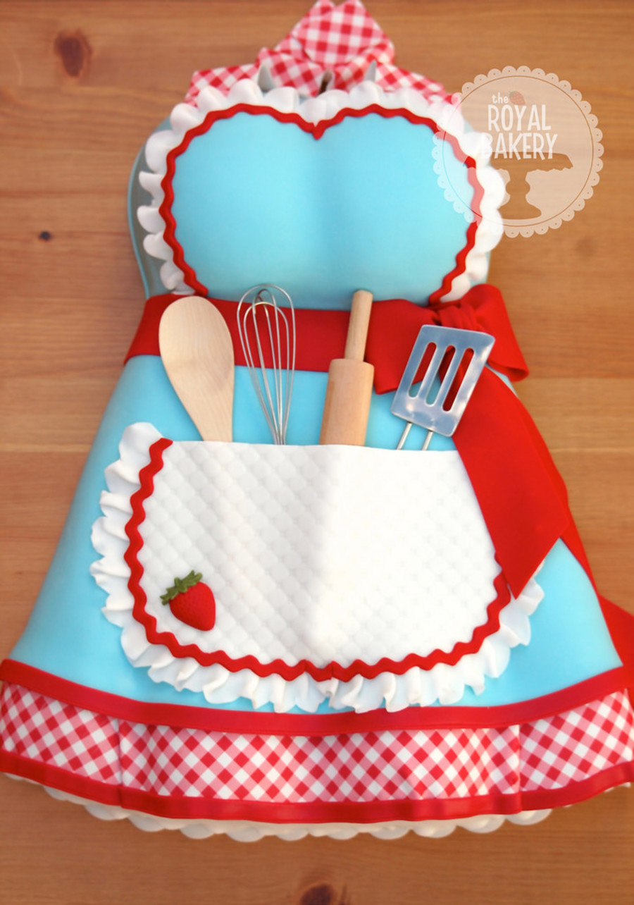 Apron kitchen tea bridal shower cake for Bridal shower kitchen tea ideas