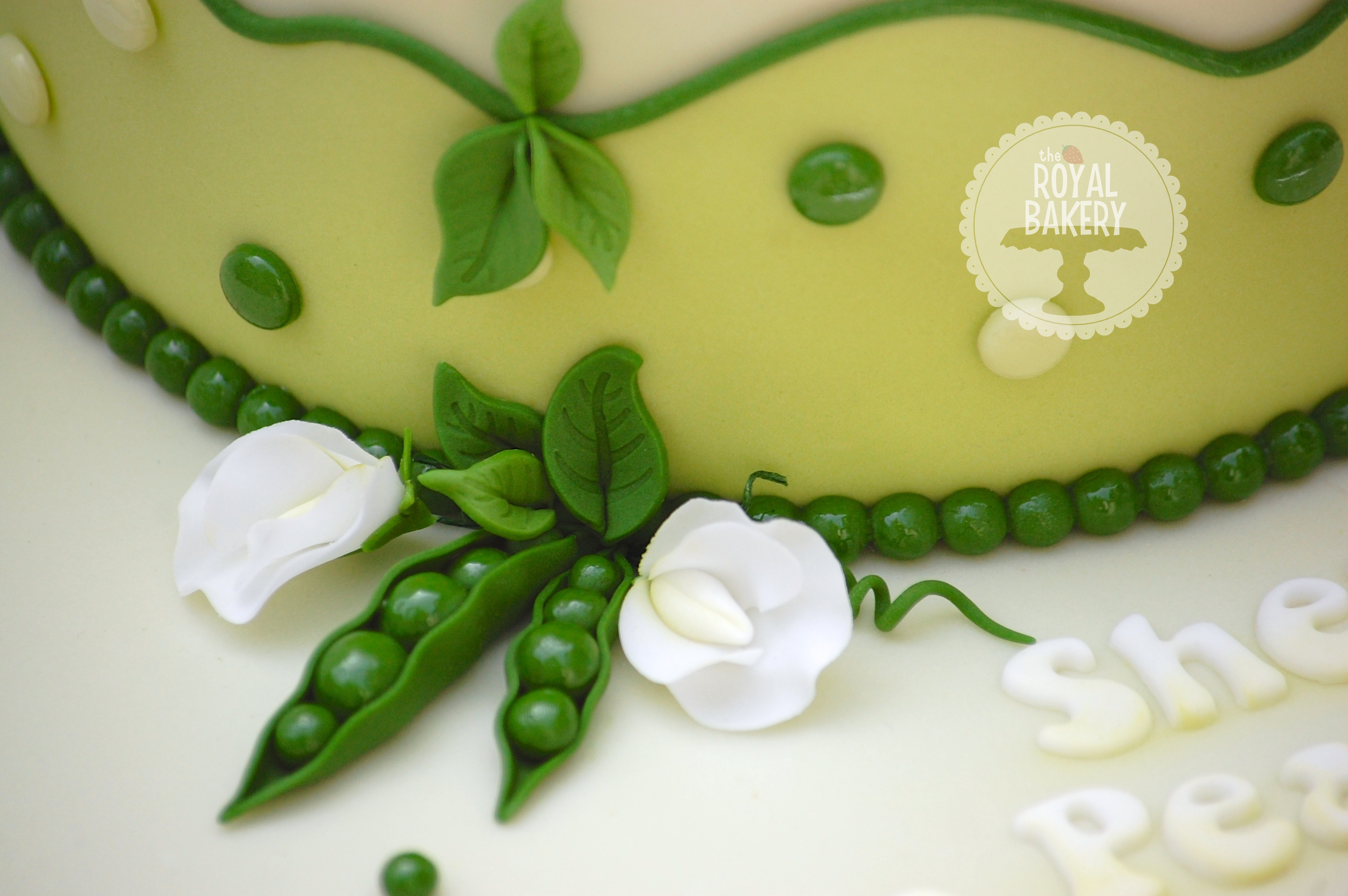 Two Peas In A Pod Baby Shower Cake CakeCentral