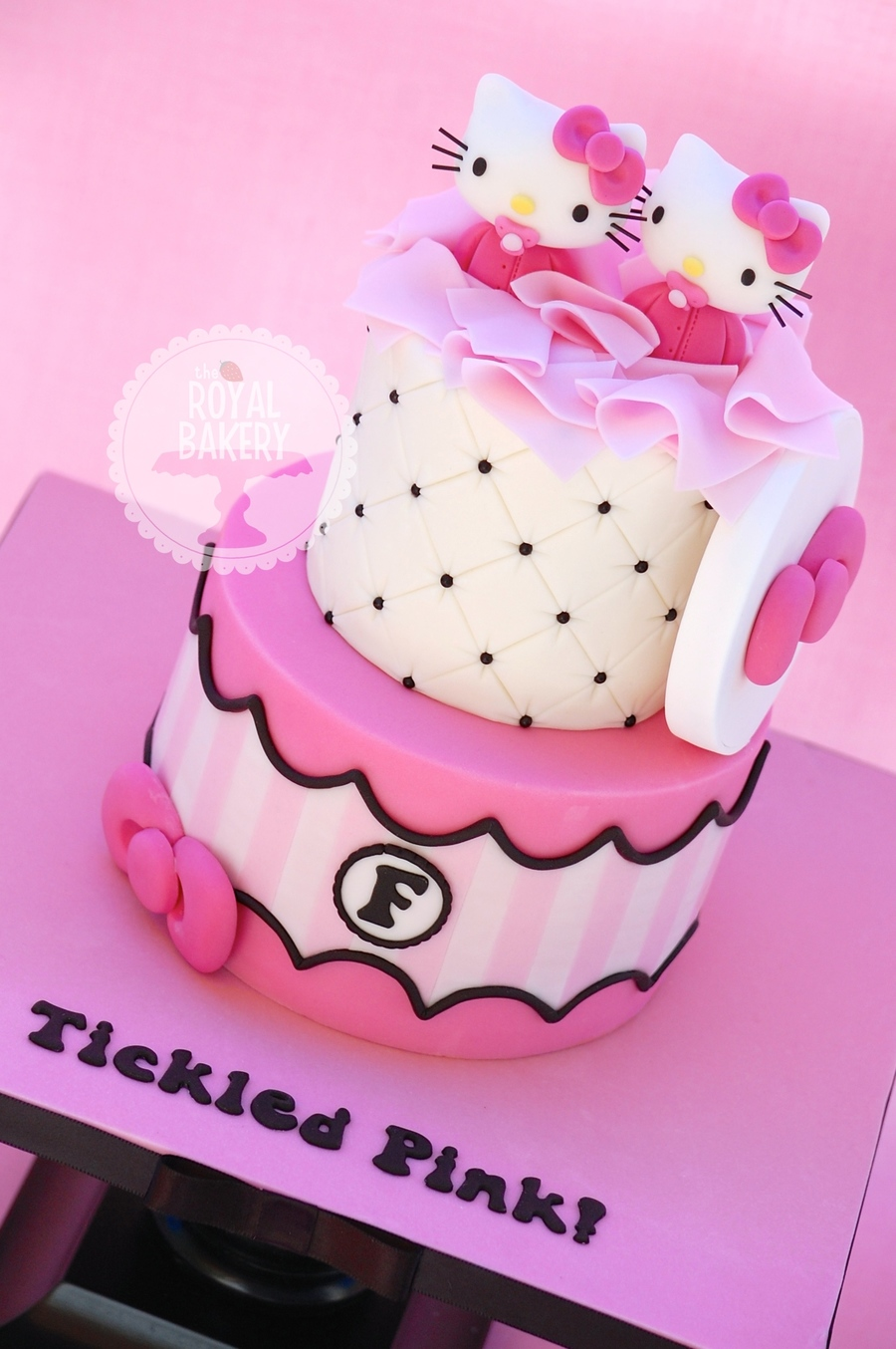 Hello Kitty Twins Baby Shower Cake On Cake Central