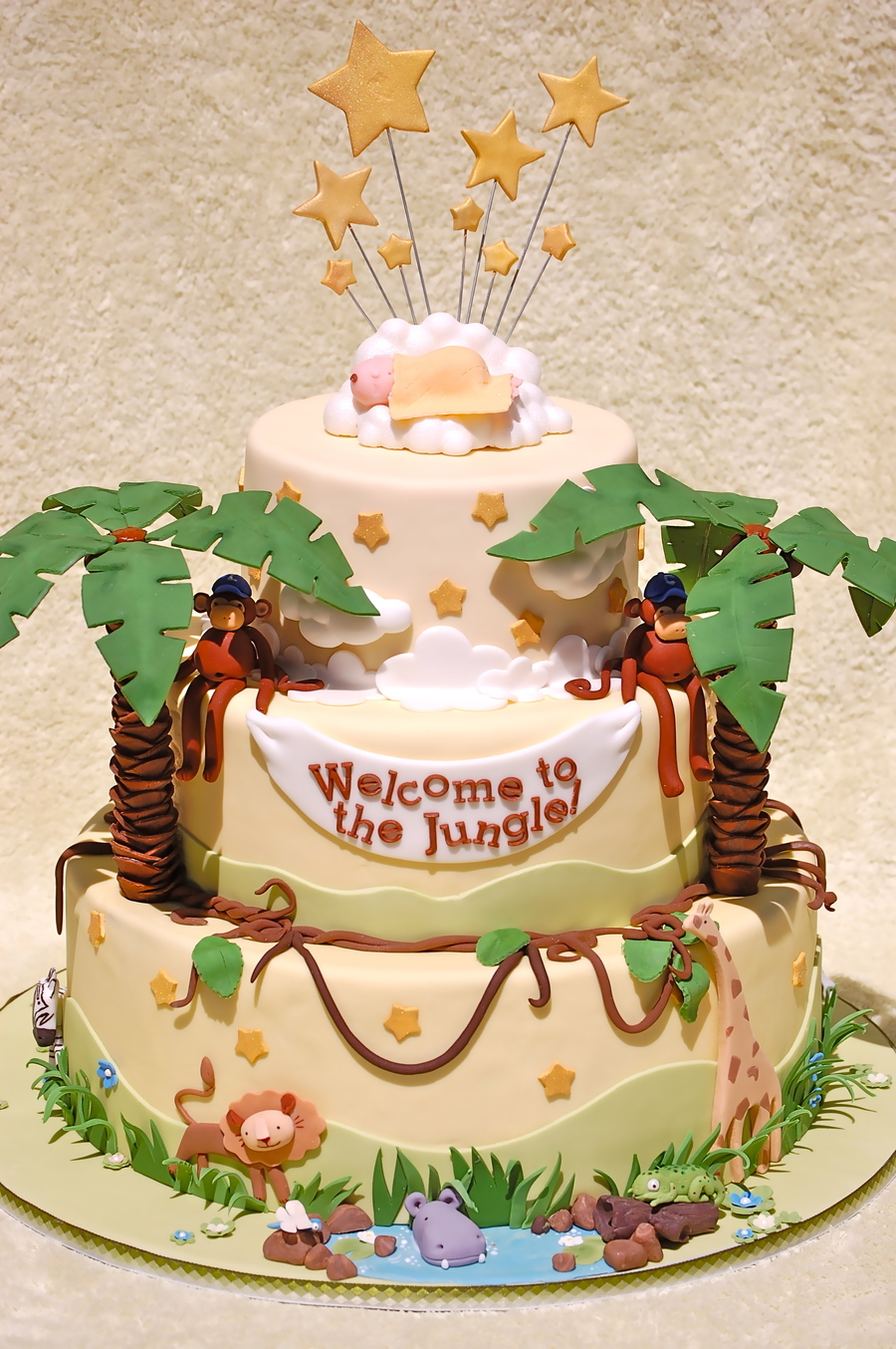 Jungle Baby Shower For Deedee Cakecentral Com
