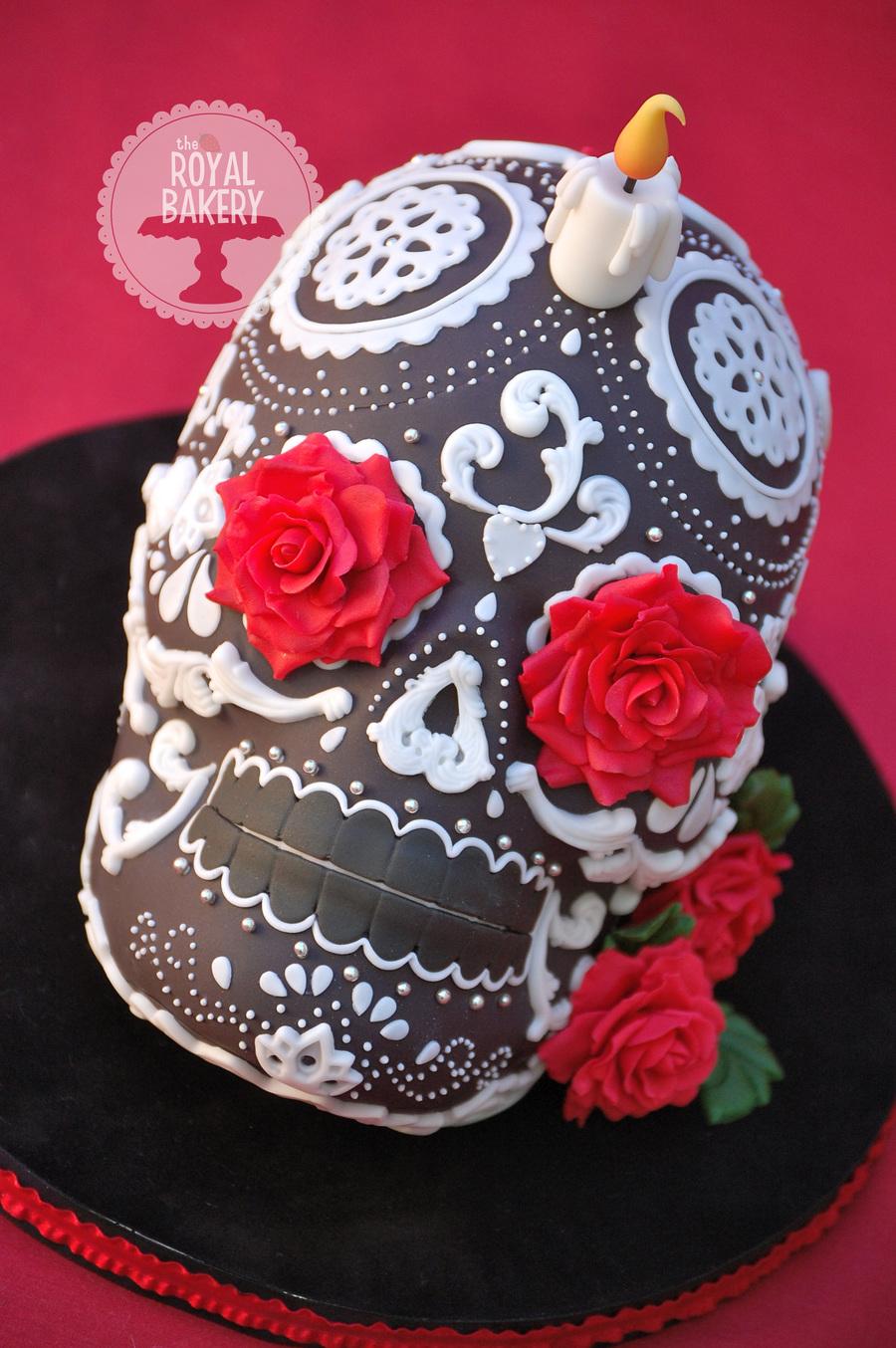 A Dia De Los Muertos Cake I Made For A Party I Used The