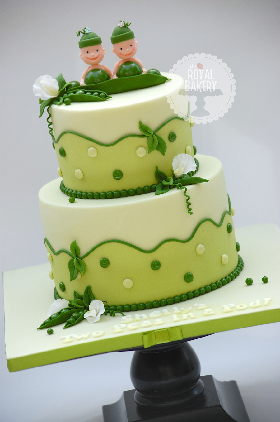 Two Peas In A Pod Baby Shower Cake Cakecentral Com