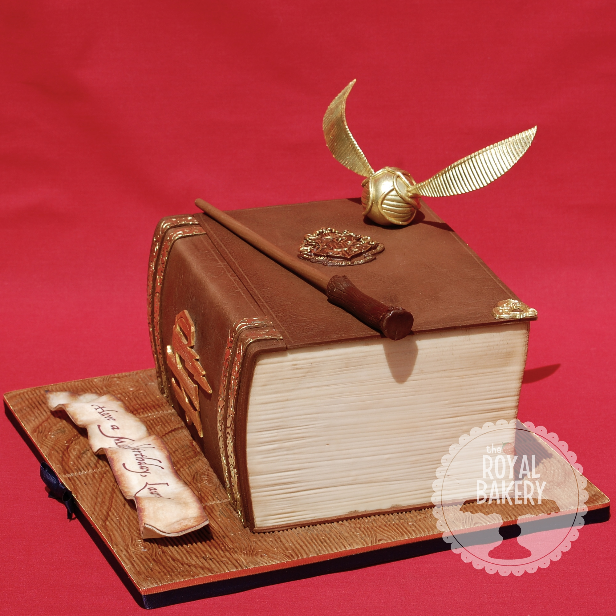 A Harry Potter Themed Book Cake For Laurens 25Th Birthday ...