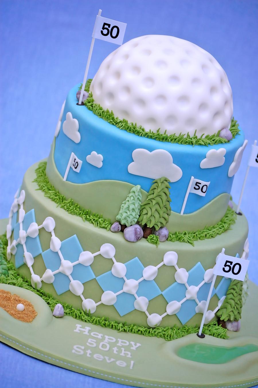 50th Birthday Golf Cake Cakecentral Com