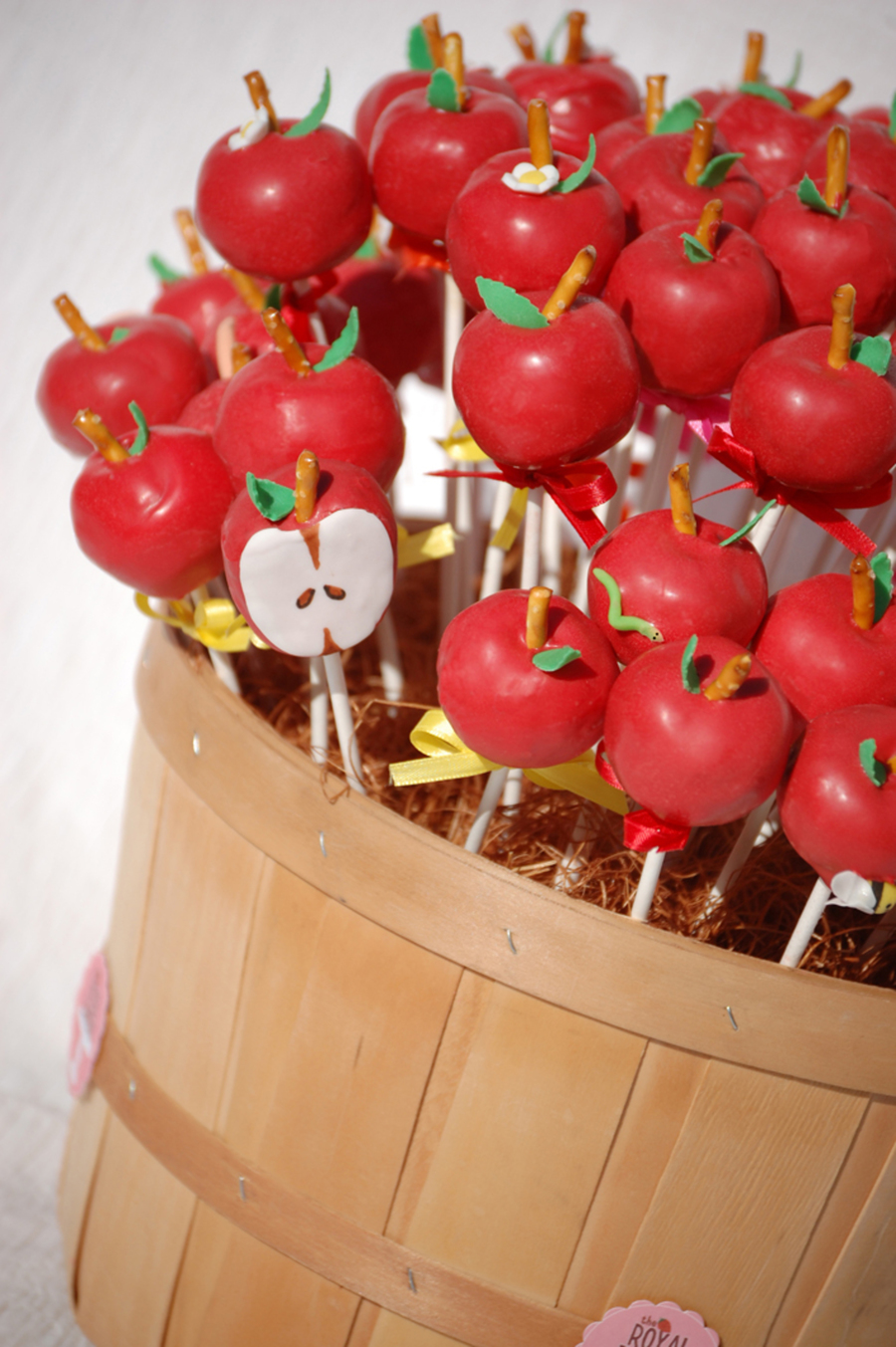 End Of Trimester Apple Cake Pops on Cake Central