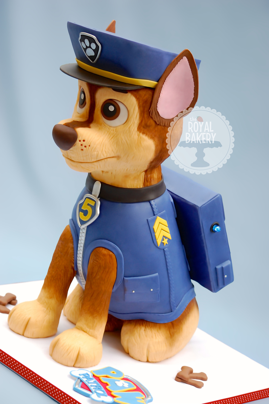 Paw Patrol Chase Dog Cake - CakeCentral.com