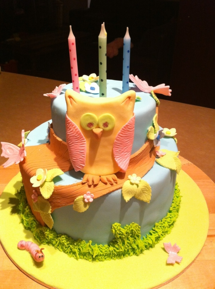 4Th Birthday Owl Cake on Cake Central