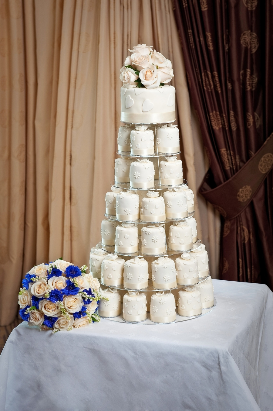 mini wedding cake towers mini cake wedding tower cakecentral 17437