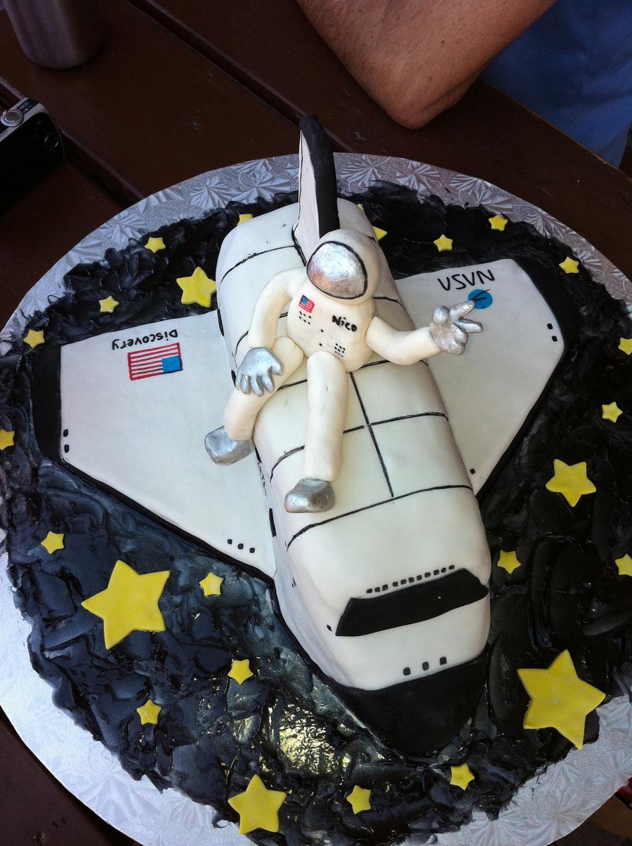Pleasing Space Shuttle Birthday Cake Cakecentral Com Personalised Birthday Cards Vishlily Jamesorg