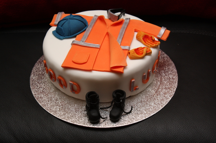 Ppe Construction Worker Cake on Cake Central