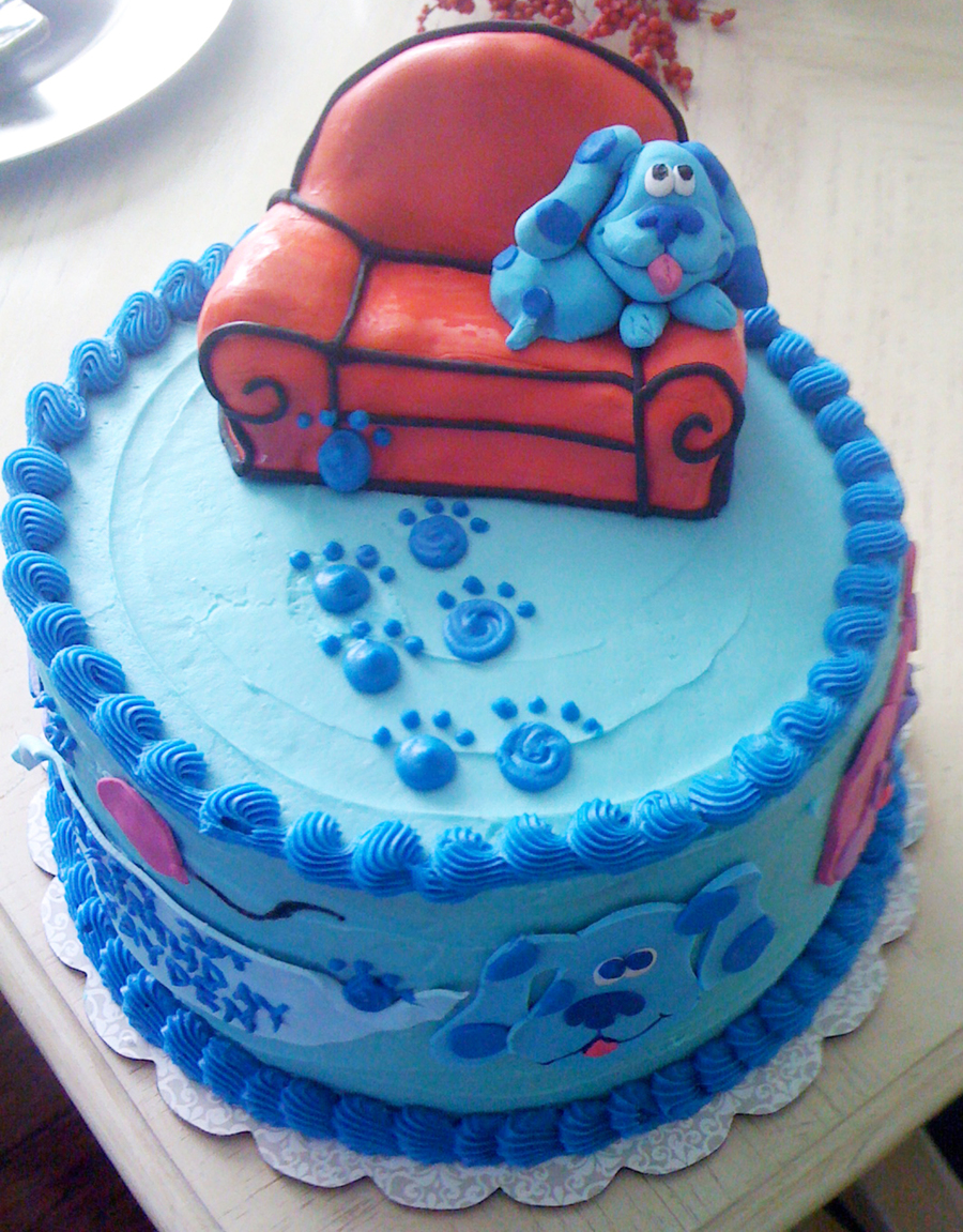 blue birthday cake blue s clues birthday cake cakecentral 1922