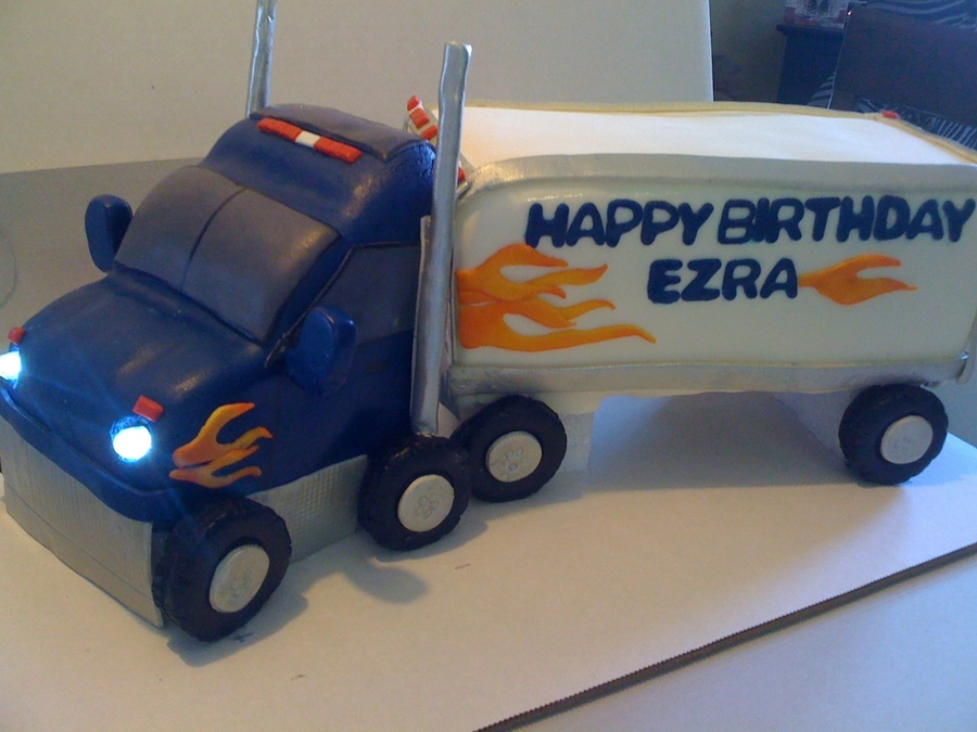 Semi Truck Birthday Cake Cakecentral Com