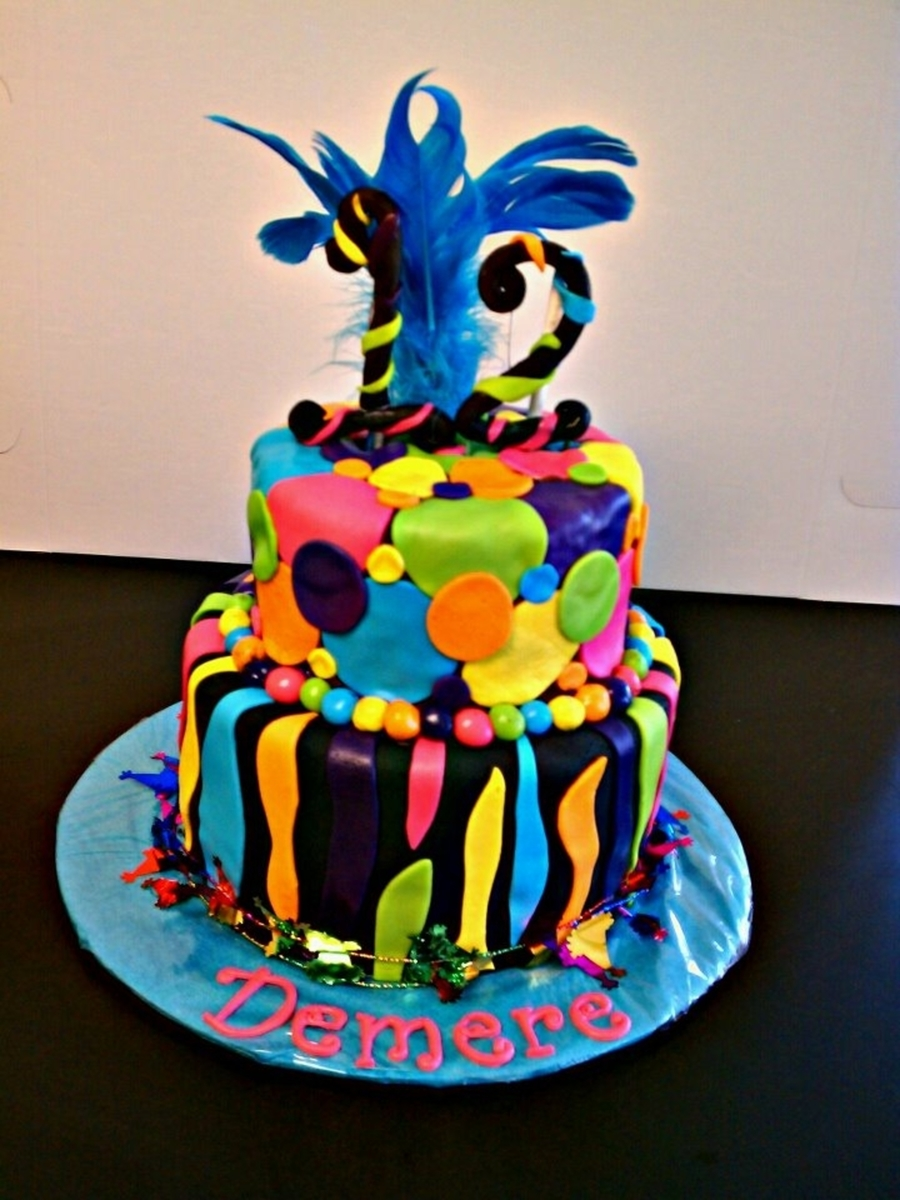 Colorful Birthday on Cake Central