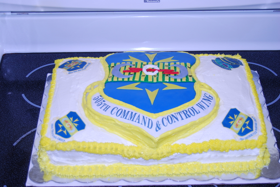 Air force change of command cake for Air force cakes decoration