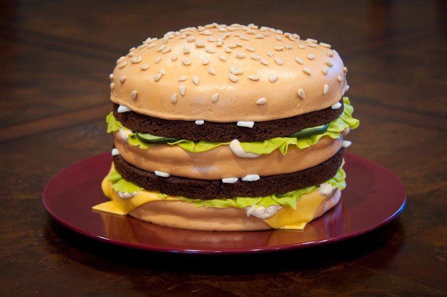 Cheeseburger And Fries Birthday Cake