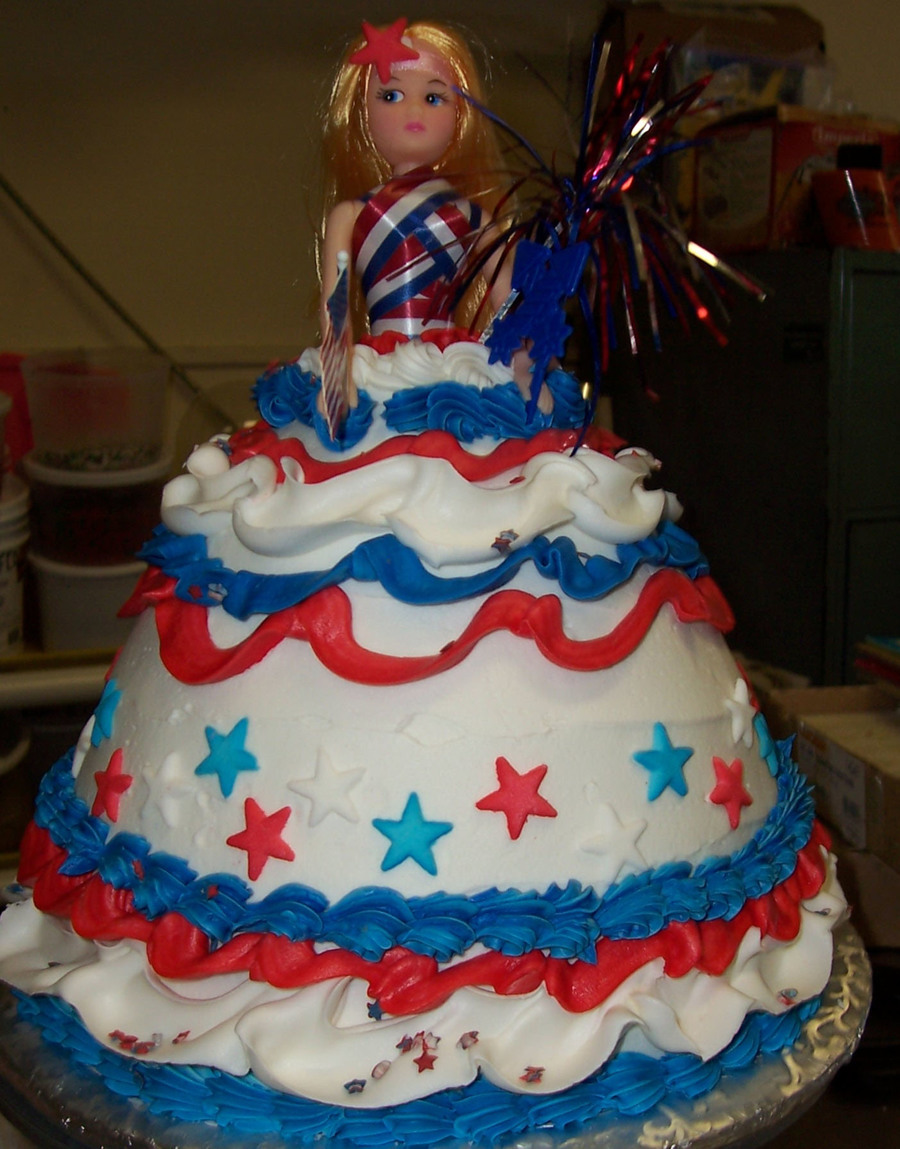 4Th Of July Doll on Cake Central