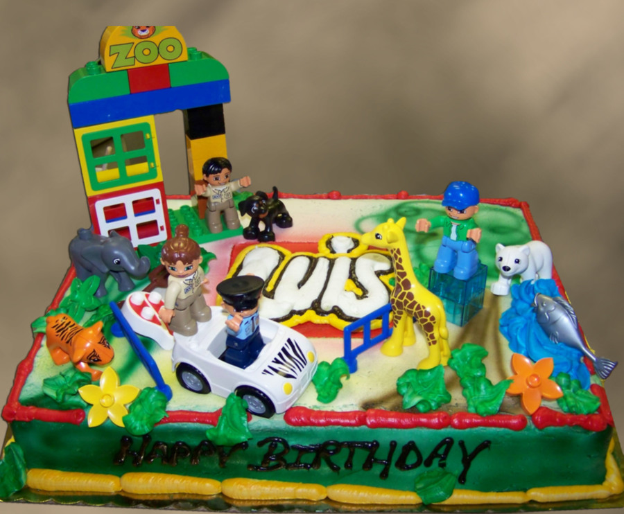 Lego Zoo on Cake Central