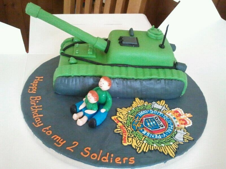 Tank And Regiment Badge on Cake Central