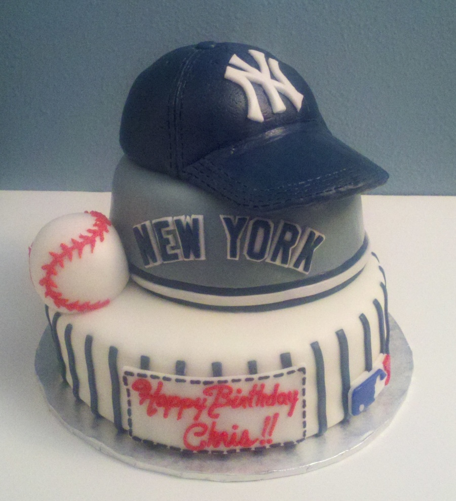 Mlb New York Yankees Birthday Cake