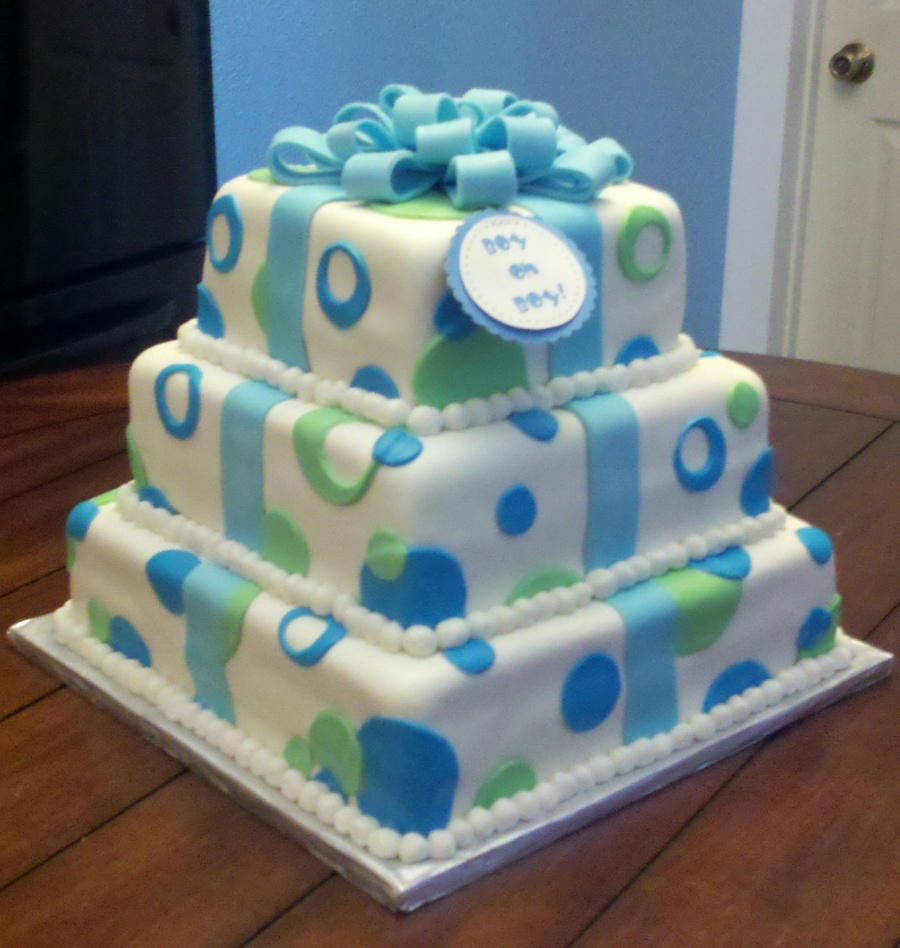 Boys Baby Shower Cake: Boy Oh Boy! Baby Shower Cake