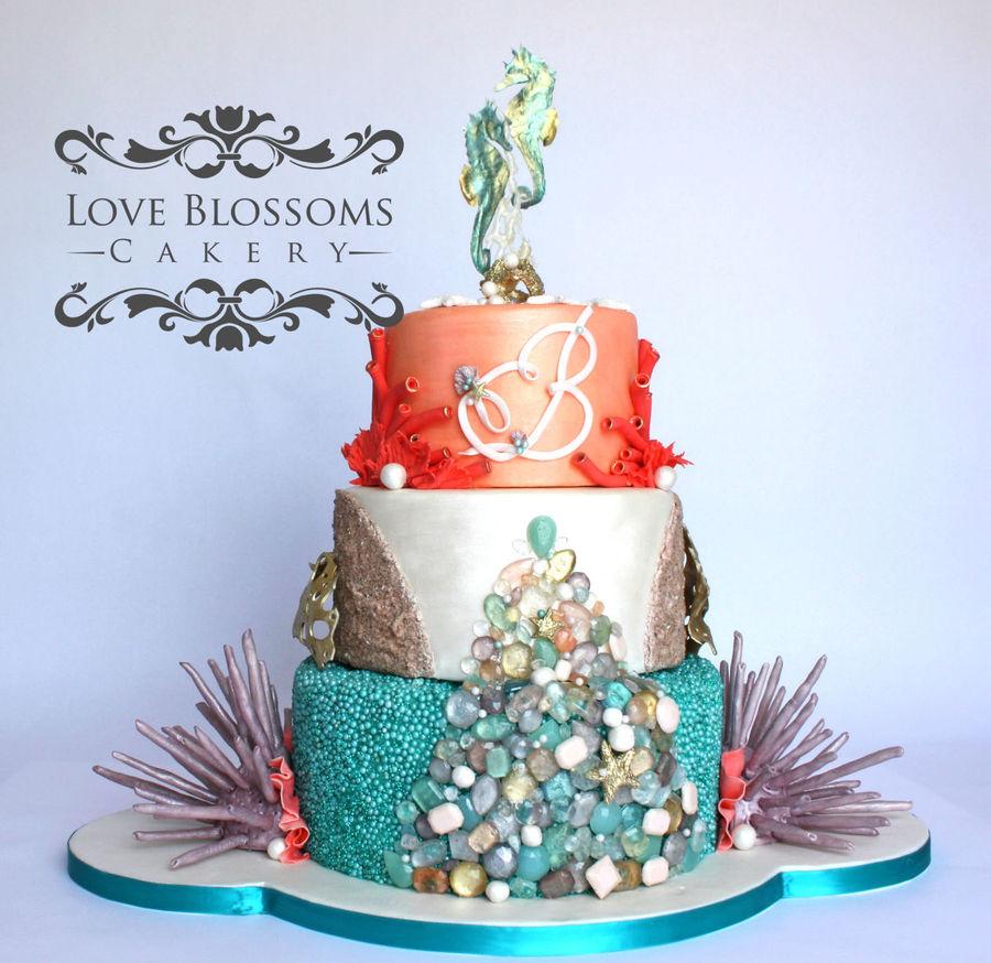 Modern Wedding Cakes: Modern Beach Wedding Cake