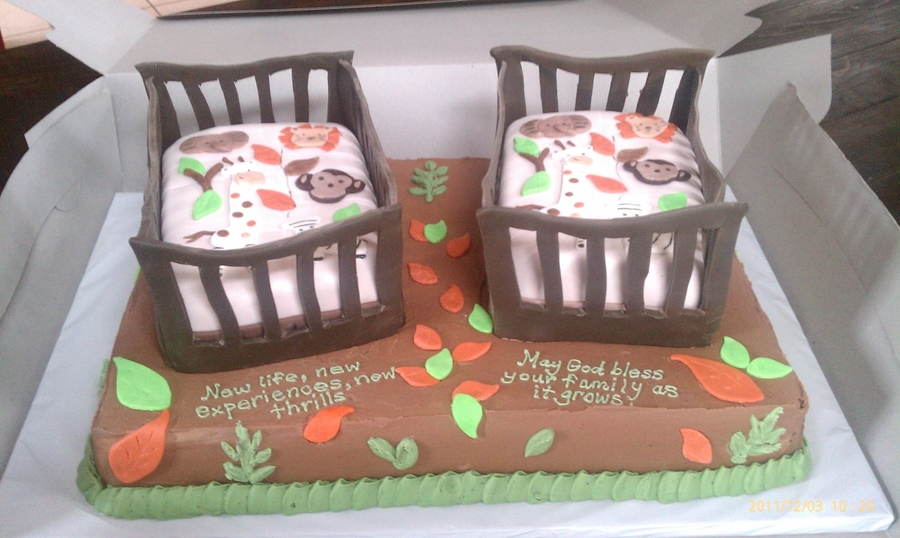 Baby Shower For Twins on Cake Central