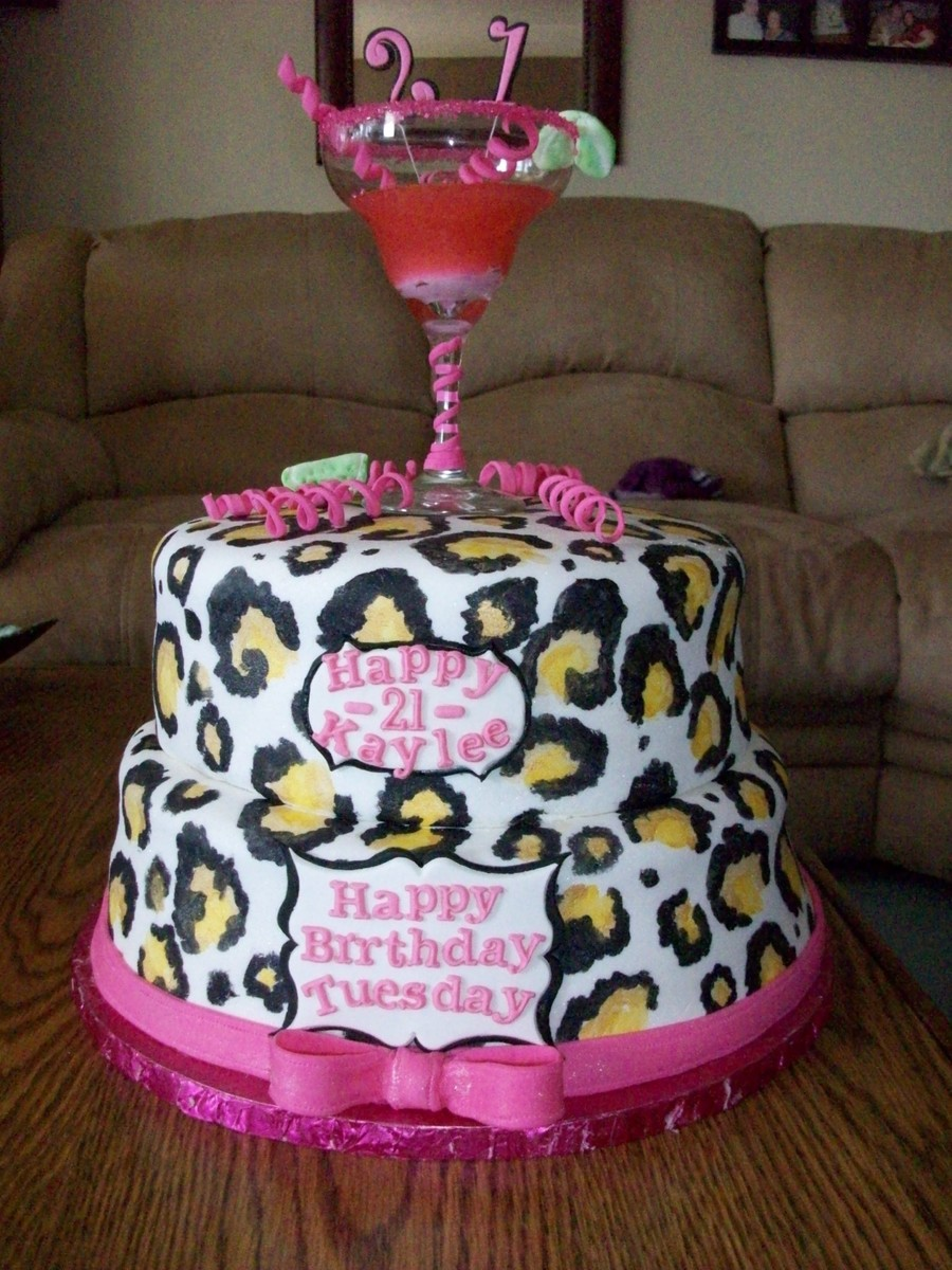 Cheetah Print St Birthday Cakes
