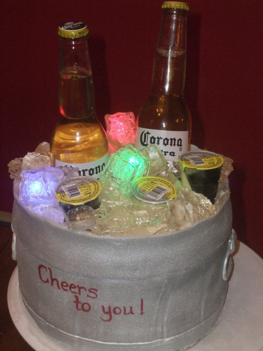 Beer Cooler on Cake Central