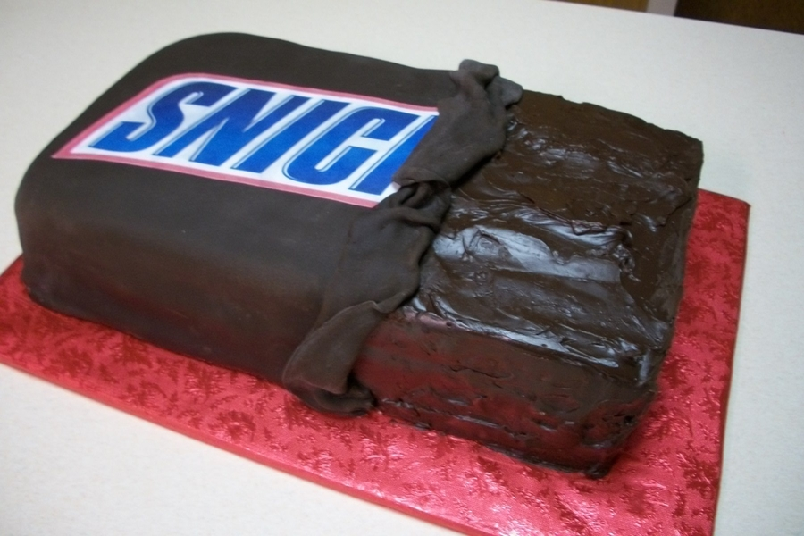 Snicker Bar Cake  on Cake Central