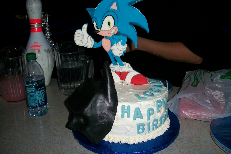 Sonic And Batman on Cake Central